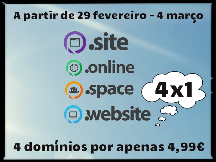 Feliç any de traspàs per als dominis .online, .site, .website i .space!